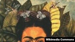 Фріда Кало, Автопортрет з колючим намистом та колібрі, 1940 рік