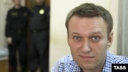Алексей Навальный перед рассмотрением административного дела в Замоскворецком суде