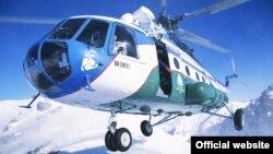"""Uzbekistan airways"" авиаширкатига тегишли вертолётлардан бири."