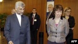 دیدار خانم اشتون و آقای جلیلی، در سال ۲۰۱۰ در سازمان ملل متحد