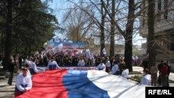 (архівна фотографія) Святкування 227-ї річниці захоплення Російською імперією Криму, Сімферополь, 19 квітня 2010 року