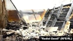 После пожара на центральном рынке города Куляба