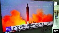 Сюжет об испытании северокорейской баллистической ракеты. Иллюстративное фото.