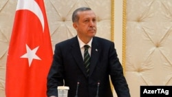 Azerbaijan -- President Ilham Aliyev, PM Recep Tayyip Erdogan give joint press conference - 04Apr2014