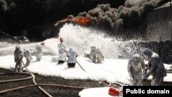 Пожежа на нафтобазі компанії «БРСМ-нафта» біля Василькова, 10 червня 2015 року