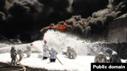 Ліквідація пожежі на нафтобазі під Києвом, 10 червня 2015 року
