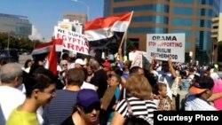 تظاهرة لمصريين في لوس أنجلس