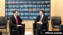 Premierul Vlad Filat cu Jose Manuel Barroso la Bruxelles