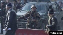 بسته شدن جاده اصلی منتهی به ساختمان امنیت ملی در کابل پس از انفجار