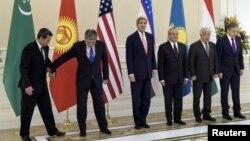 АҚШ мемлекеттік хатшысы мен Орталық Азия елдері сыртқы істер министрлерінің кездесуі. Самарқанд, 1 қараша 2015 жыл.