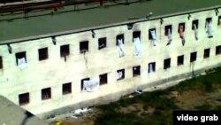 Тюрьма в Актобе. Скриншот видео, размещенного на сайте YouTube.