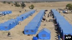 FILE: A displacement camp near Kabul, Afghanistan.
