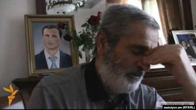 Armenia -- Emil Budaghian, father of Artak Budaghian, Goris, 26Feb2014