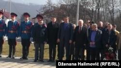 Milorad Dodik i Petar Ivancov na polaganju vijenca Čurkinu u Istočnom Sarajevu