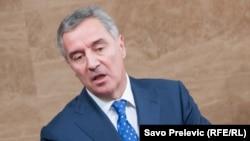 Milo Đukanović na premijerskom satu, foto: Savo Prelević