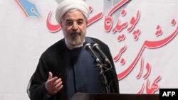 Президент Ирана Хасан Роухани. Тегеран, 14 октября 2013 года.
