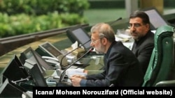IIranian Parliament Speaker, Ali Larijani in a session of parliament on Sunday June 11, 2017.