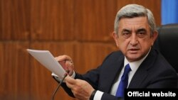 Armenia -- President Serzh Sarkisian (archive photo)