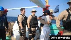 U.S. Navy sailors rescued Iranian fishermen earlier this month in the second such operation in the span of a week.