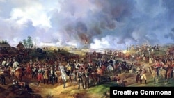 Русские, прусские и австрийские войска на поле битвы под Лейпцигом, 16 - 19 октября 1813 года