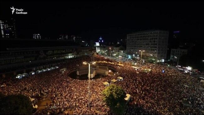 Євро-2020: тисячі фанатів у Києві подякували збірній України за гру
