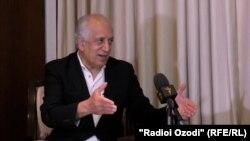 Лаҳзае аз суҳбати Залмай Халилзод бо Радиои Озодӣ, шаҳри Душанбе, 5-уми майи 2021