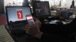 یک جوان افغان به رادیو آزادی اپلیکشن تلیفونی ساختهاست