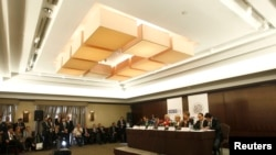OSCE election monitors presented their findings at a Baku press conference on October 10.