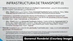 Programul de dezvoltare a infrastructurii