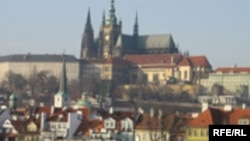 Czech Republic -- view of Prague castel close the river of Voltava,2007