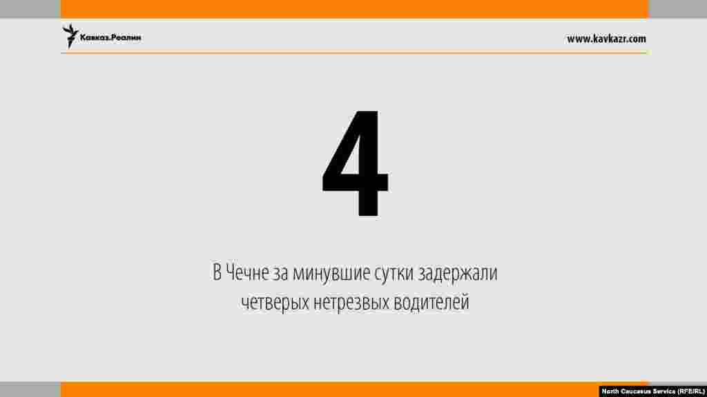 18.08.2017 //В Чечне за минувшие сутки задержали четверых нетрезвых водителей