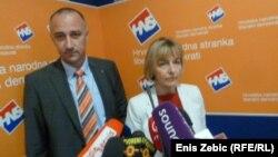 Ministri Vesna Pusić i Ivan Vrdoljak najavljuju svoj odlazak na Split Pride, 5. lipnja 2012.