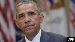Президент США Барак Обама. Белый дом, Вашингтон, 10 сентября 2015 года.