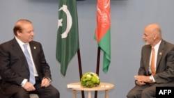 افغان ولسمشر اشرف غني او پاکستانی وزیراعظم نواز شریف