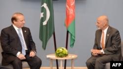 د پاکستان وزیر اعظم نواز شریف او د افغانستان صدر اشرف غني