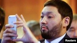 Казахстанский бизнесмен Кенес Ракишев в бытность председателем совета директоров Казкоммерцбанка.