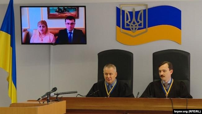 Допрос Оксаны Медиевой в суде