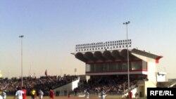 جانب من مباراة الدوري العراقي الممتاز بكرة القدم بين فريقي الزوراء والموصل