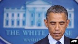 Президент США Барак Обама выступает с речью в Белом доме. Вашингтон, 15 апреля 2013 года.