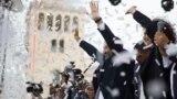 В Ереване отметили снежками назначение лидера протестов Пашиняна премьером