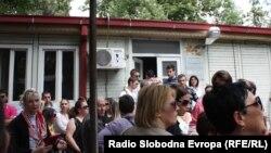 Архивска фотографија - протест пред седиштето на Општина Центар.