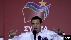 Ципрас обращается к сторонникам в Афинах, 20 сентября 2015 года.