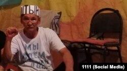 Амангельды Оразбаев во время голодовки. 24 июня 2021 года