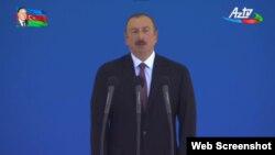 İlham Əliyev silahlı qüvvələrin paradında çıxış edir, 26 iyun 2018