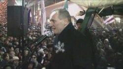 Народны сход на Прывакзальным пляцы ў Менску