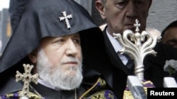 The head of the Armenian Apostolic Church, Catholicos Garegin II