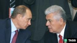 Cu Vladimir Putin la Minsk în 2006