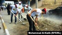احدى حملات تنظيف شوارع الموصل