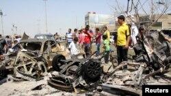 Бағдадта болған жарылыстардың бірі. Ирак, 9 сәуір 2014 жыл.