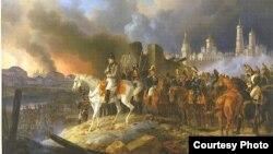 Russia -- Albrecht Adam. Napoleon in Moscow, 1841